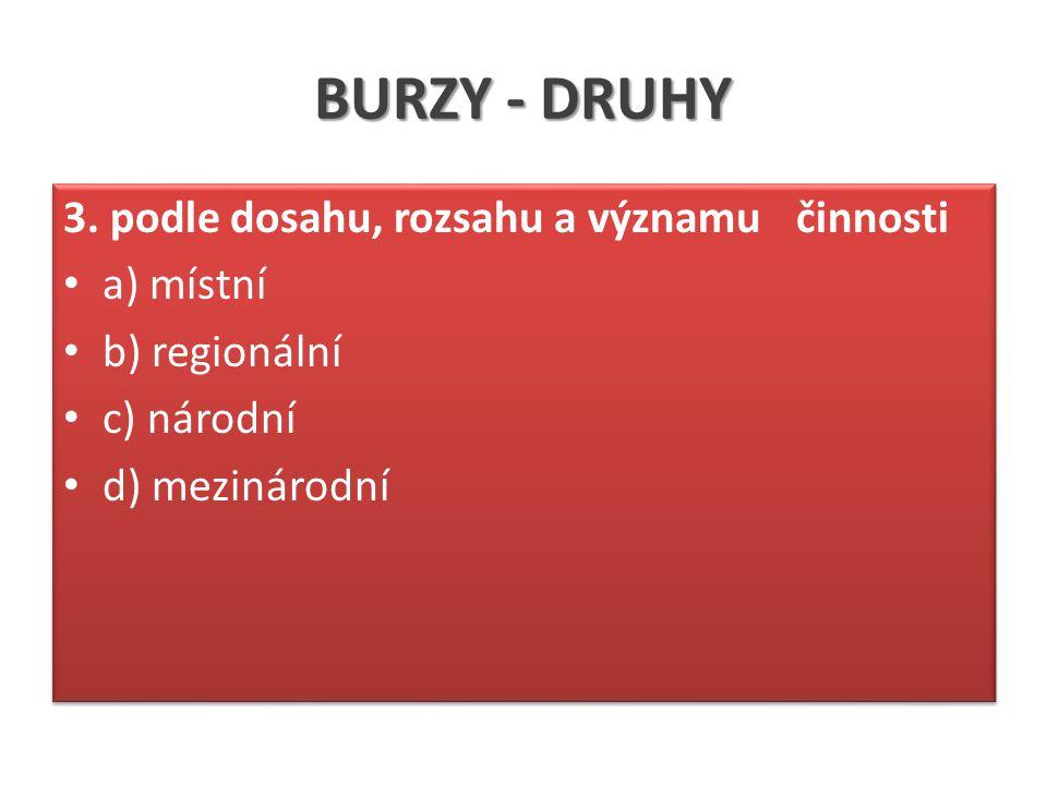 BURZY - DRUHY 3.