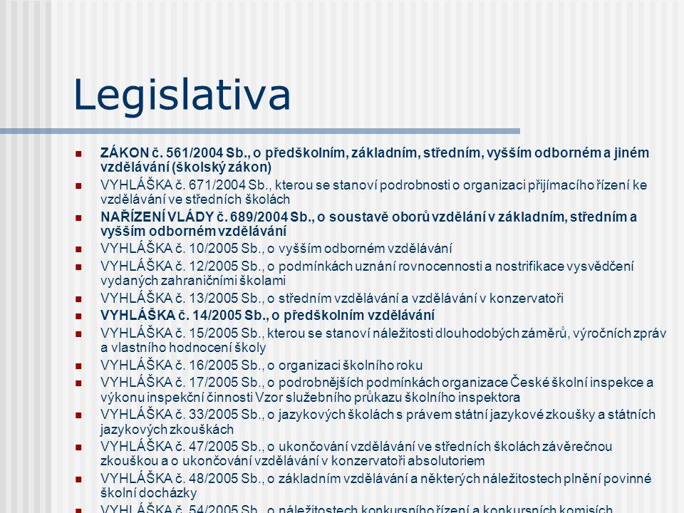 Související zákony Zákon č.