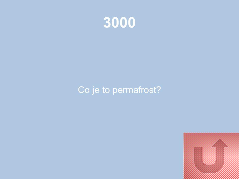 3000 Co je to permafrost?
