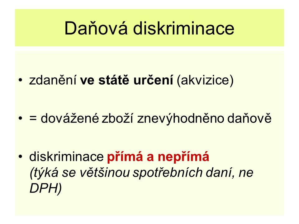 Daňová diskriminace čl.110: 1.