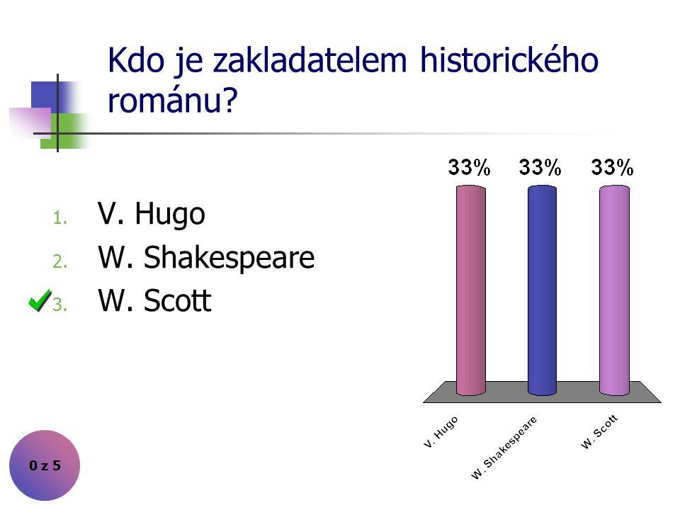 """Kdo napsal """"Evžena Oněgina""""? 0 z 5 1. W. Scott 2. A. S. Puškin 3. V. Hugo"""