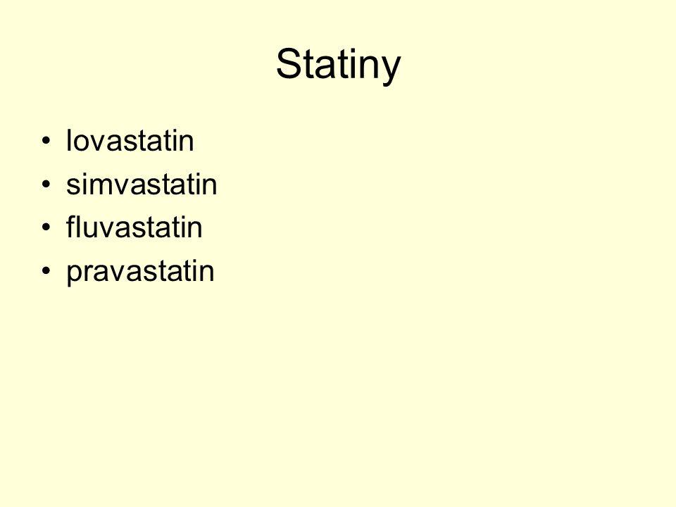 STATINY Schéma mechanismu účinku statinů
