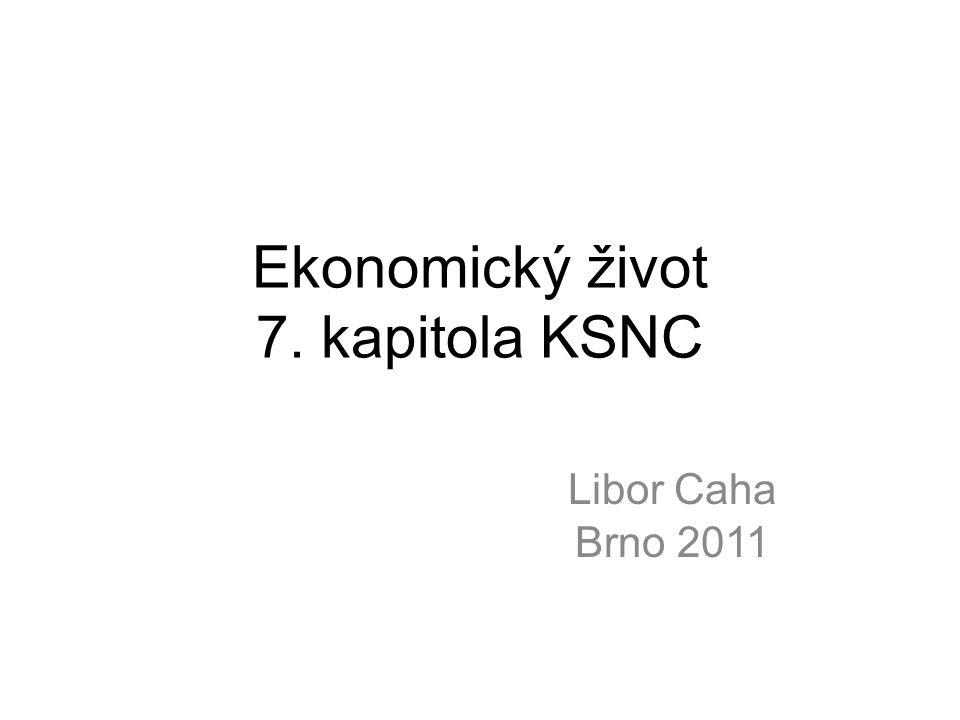 Ekonomický život 7. kapitola KSNC Libor Caha Brno 2011