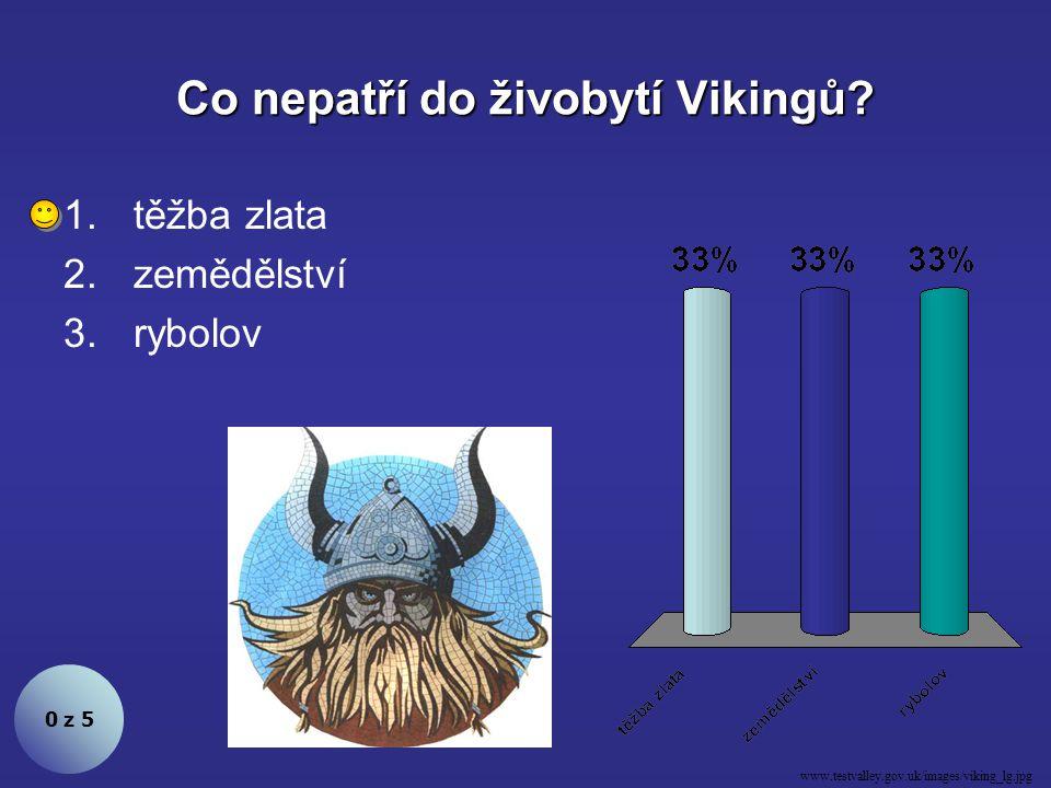 Co nepatří do živobytí Vikingů.