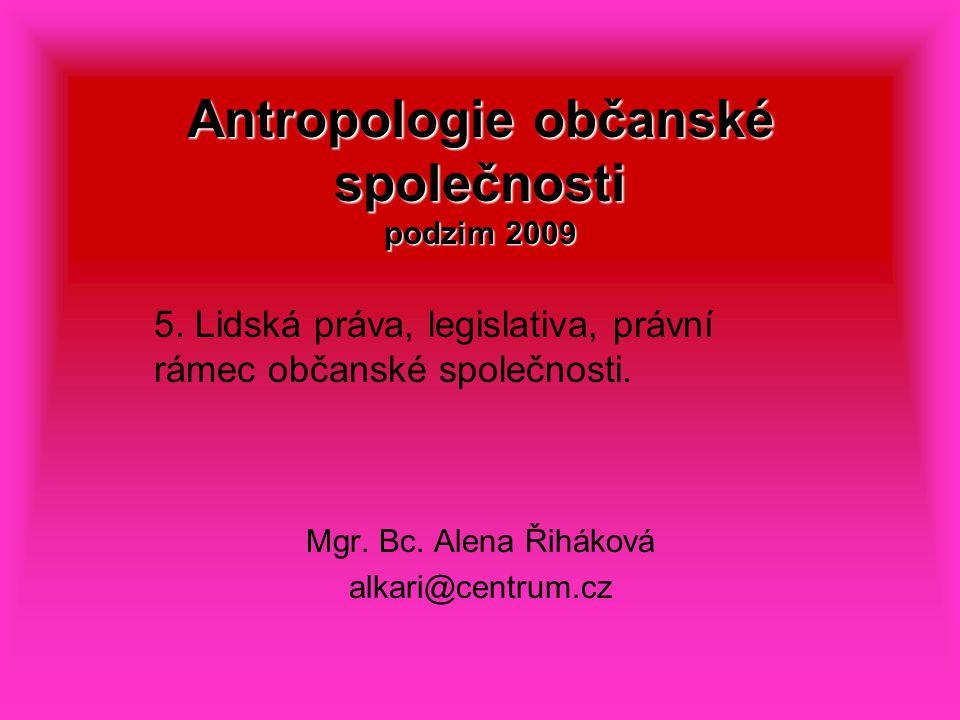 Antropologie občanské společnosti podzim 2009 5.