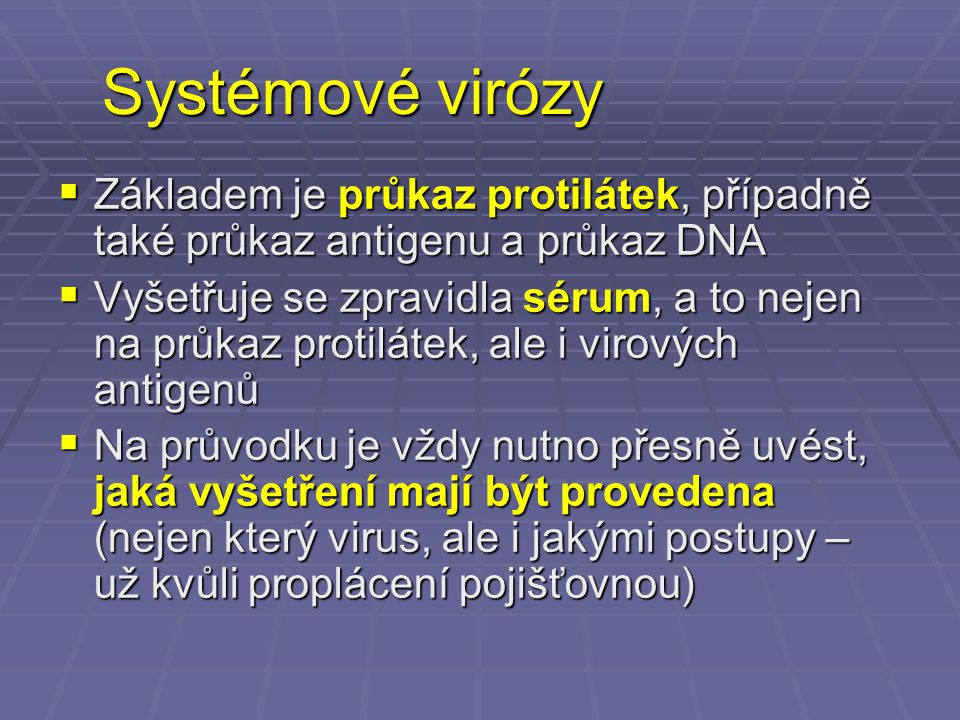 Diagnostika neuroinfekcí