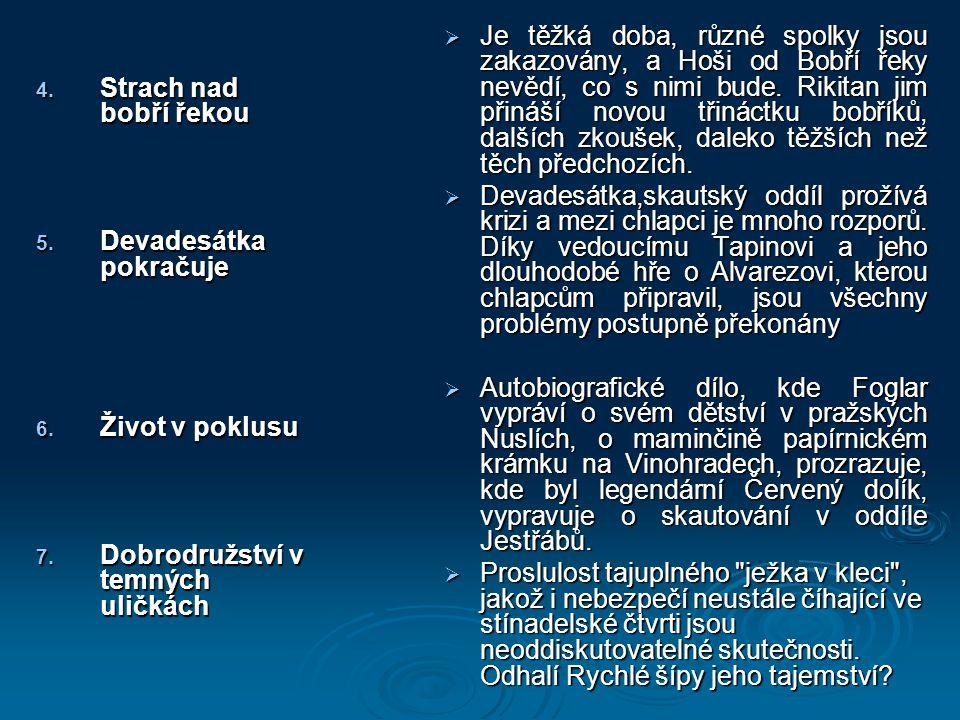 4. Strach nad bobří řekou 5. Devadesátka pokračuje 6.