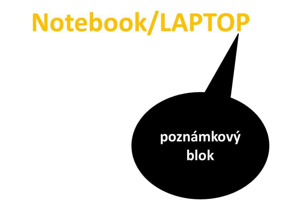 Notebook/LAPTOP poznámkový blok