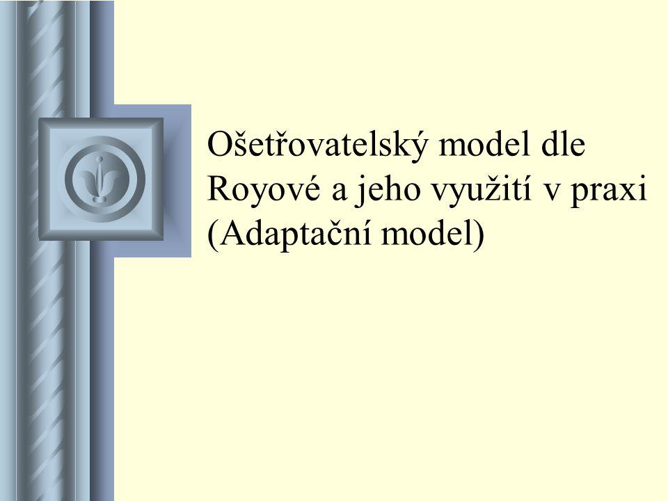 Ošetřovatelský model dle Royové a jeho využití v praxi (Adaptační model) Součástí této prezentace bude pravděpodobně diskuse, jejíž výsledkem budou ak