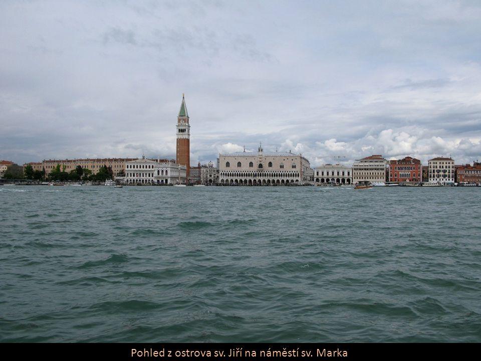 Pohled z ostrova sv. Jiří na náměstí sv. Marka
