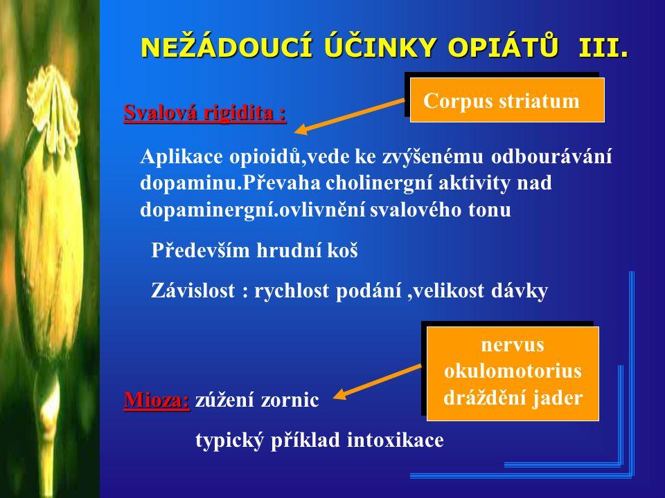 NEŽÁDOUCÍ ÚČINKY OPIÁTŮ III.