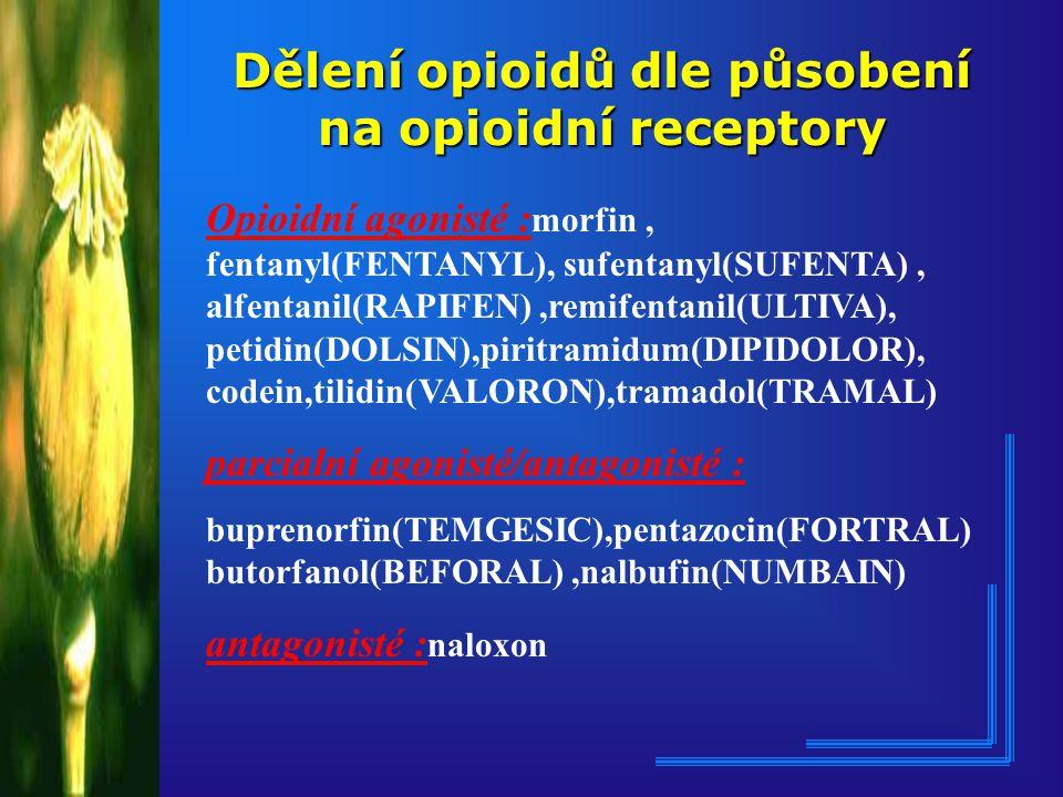 """OPIÁTOVÁ ANALGETIKA OPIUM : Zaschlá štáva z nezralých makovic : papaver somniferum Opium - řecky """"šťáva 20 alkaloidu : deriváty fenantrenu,benzylisocholinu, morfin (0,5%),kodein ( 0,7-2,5 %), papaverin,narkotin, heroin,thebain MORFIN : Rok: 1803 Fridrich Wilhem Sertürner řecký bůh spánku : Morpheus"""