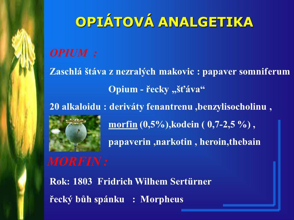 REMIFENTANYL ULTIVA Syntetizován - 80.léta Feldmann ( methylester) Vlastnost : Vlastnost : rychle štěpen nespecif.