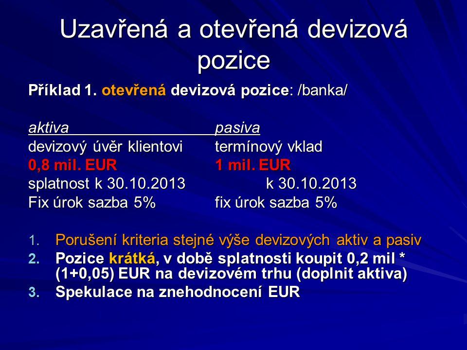 (IR CZK,D – IR EUR,L ) * t /360 SWAP RATE BID = ----------------------------------- * SR MID (1 + IR EUR,L ) * t /360 (1 + IR EUR,L ) * t /360 klient devizu promptně nakupuje a termínově prodává zpět/bance/ klient devizu promptně nakupuje a termínově prodává zpět/bance/ (IR CZK,L – IR EUR,D ) * t /360 SWAP RATE ASK = ----------------------------------- * SR MID (1 + IR EUR,D ) * t /360 (1 + IR EUR,D ) * t /360 klient devizu prodává promptně a nakupuje zpět termínově kde SR MID je spotový kurs střed Kotace swapových sazeb