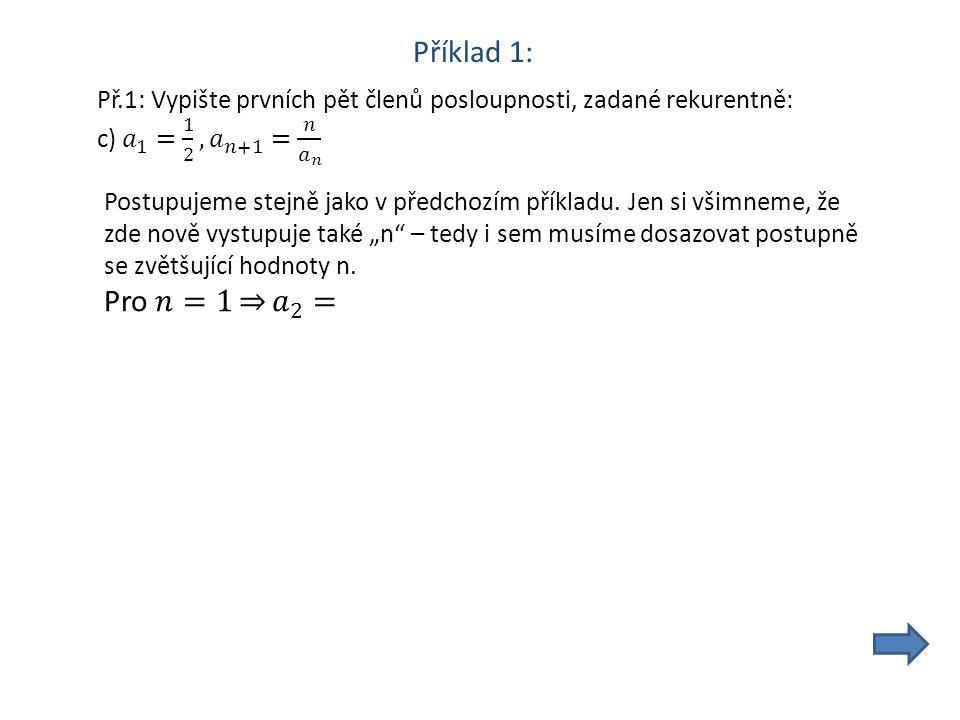 Příklad 1: