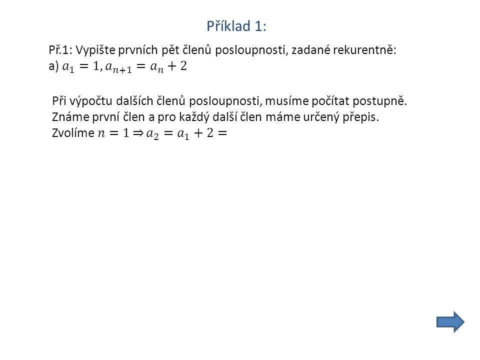 Zdroje: Matematika pro gymnázia-Posloupnosti a řady, Prometheus, 1995