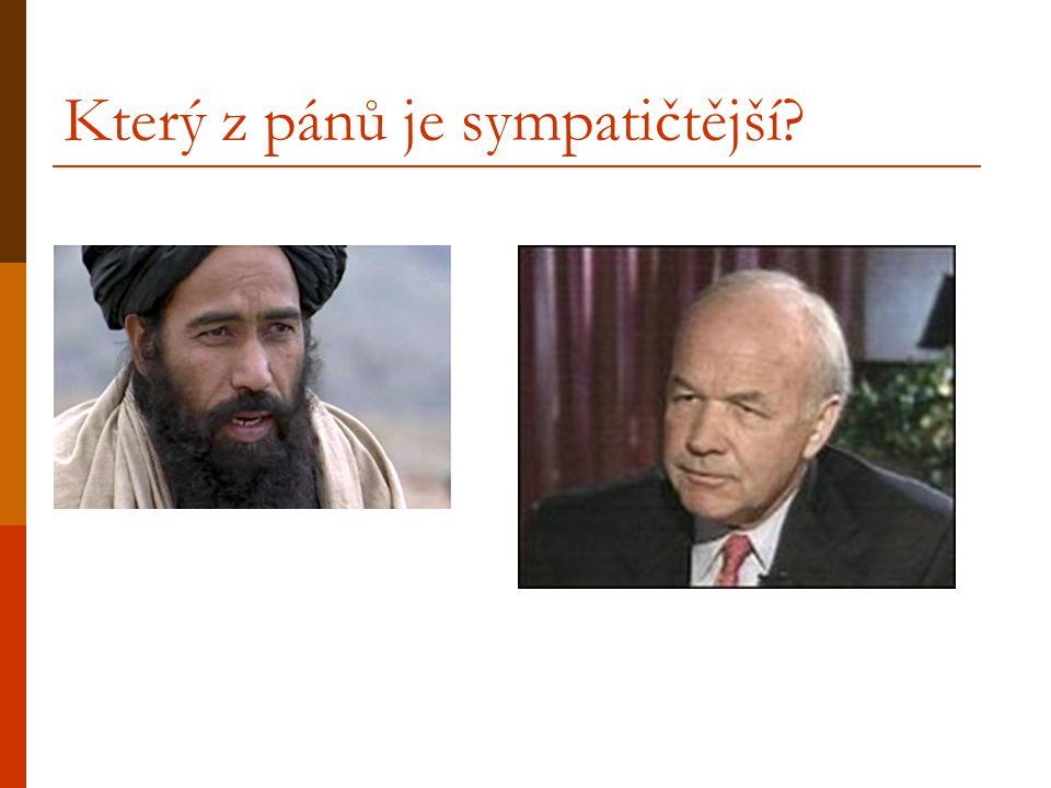 Který z pánů je sympatičtější?