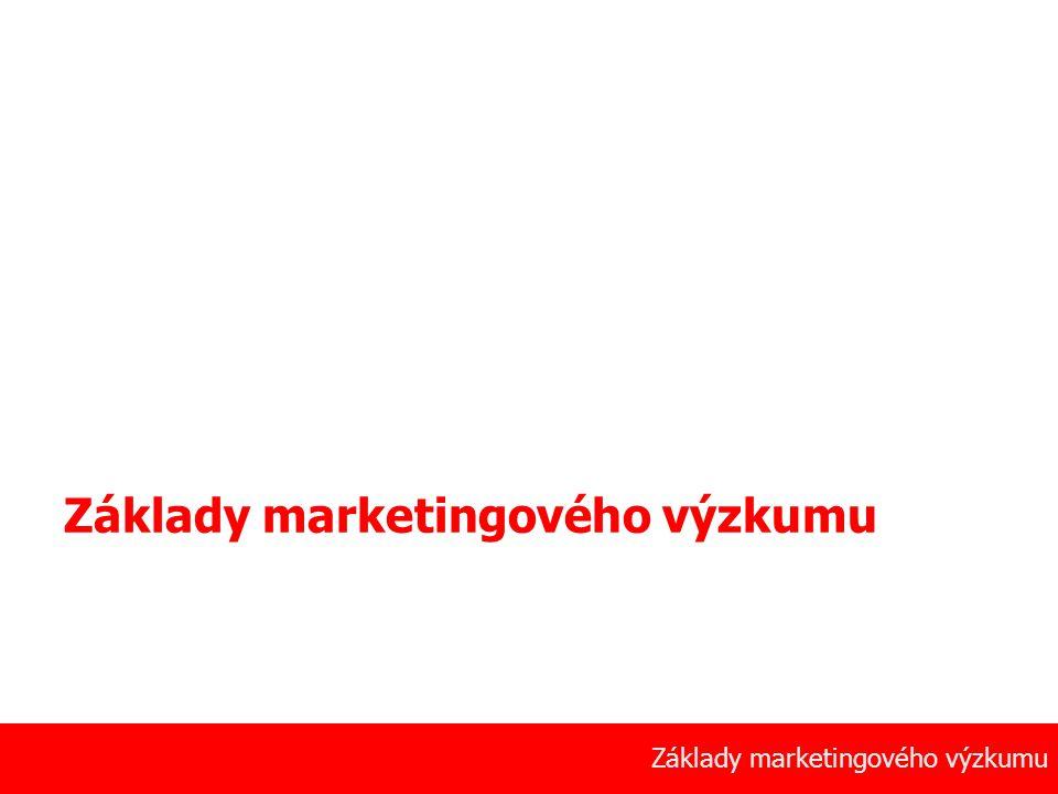 1 Základy marketingového výzkumu