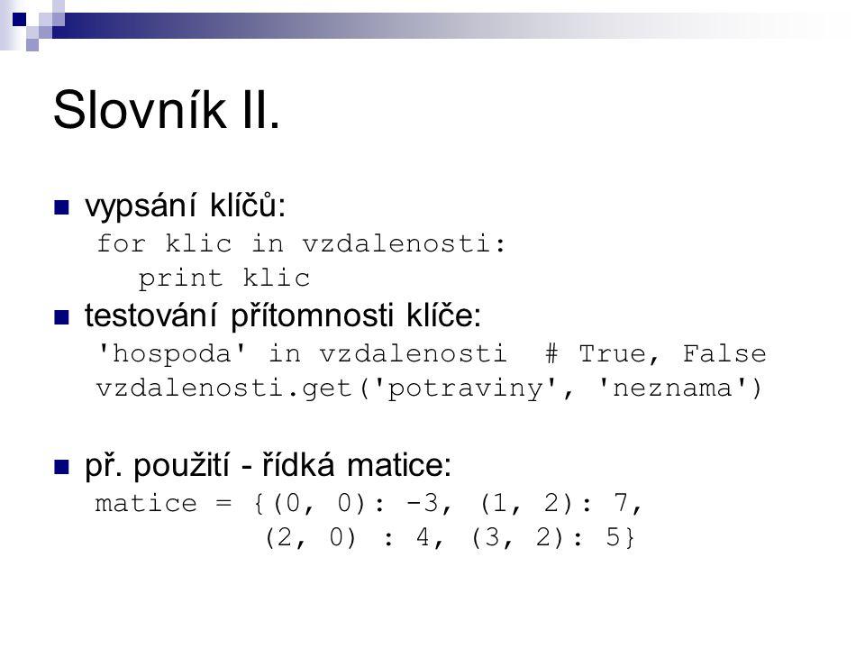 Slovník II.