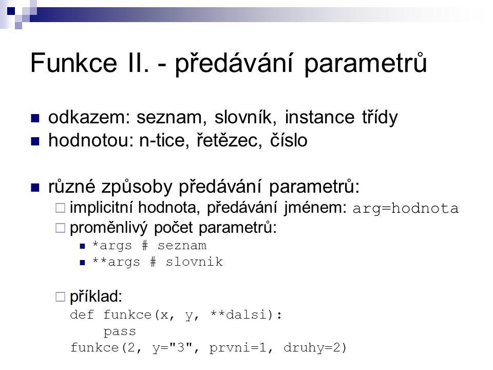 Funkce II.