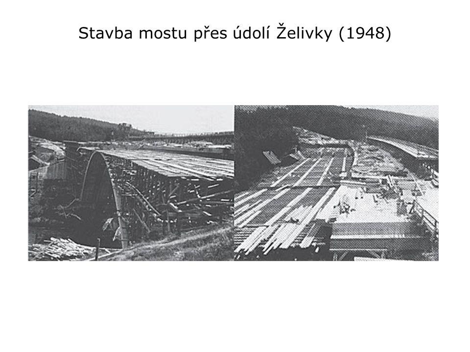 Stavba mostu přes údolí Želivky (1948)