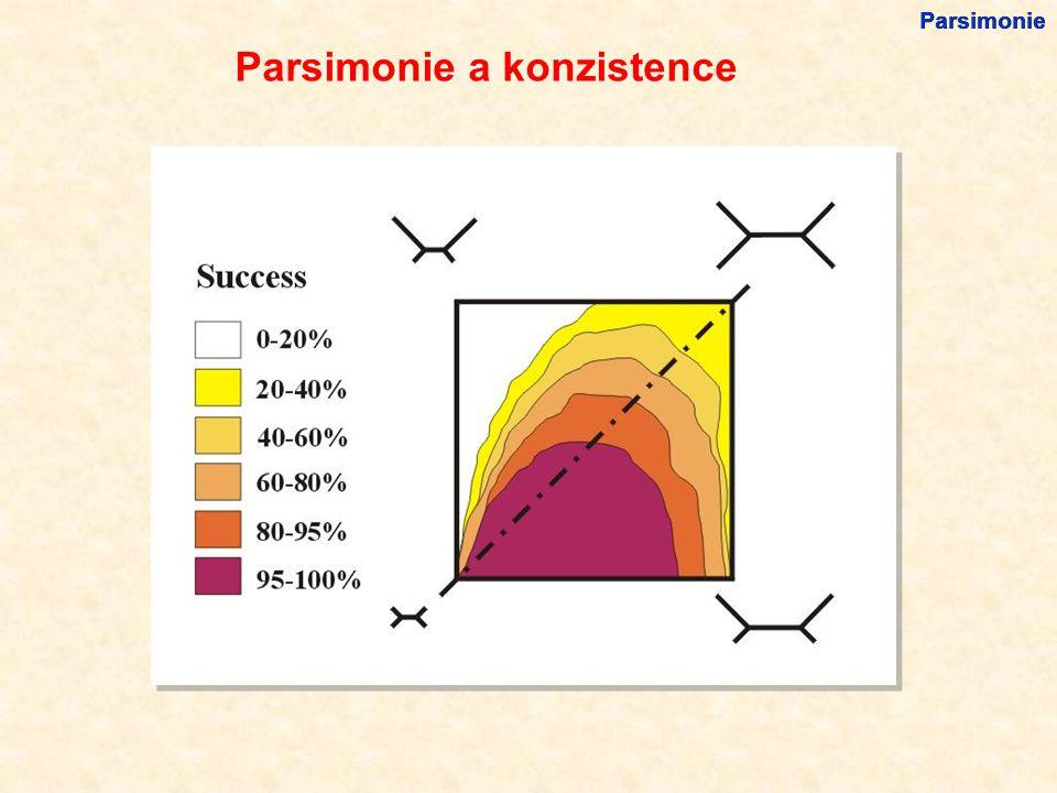 Parsimonie a konzistence Parsimonie