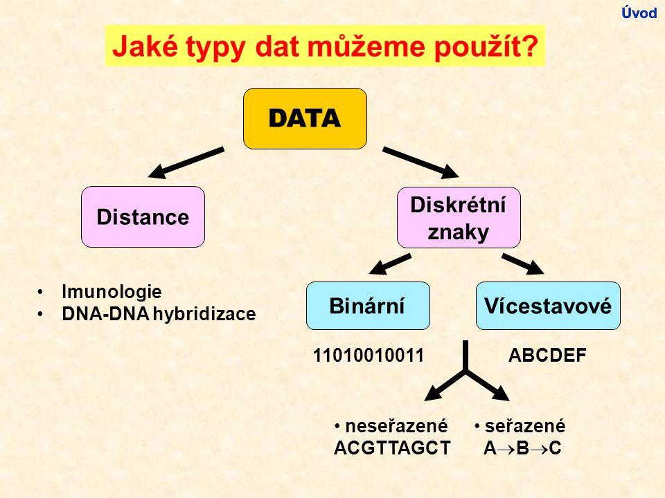 Jaké typy dat můžeme použít.