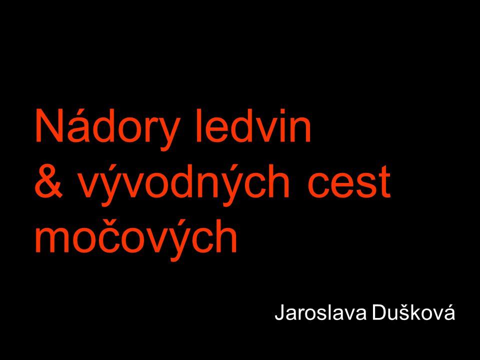 Nádory ledvin & vývodných cest močových Jaroslava Dušková