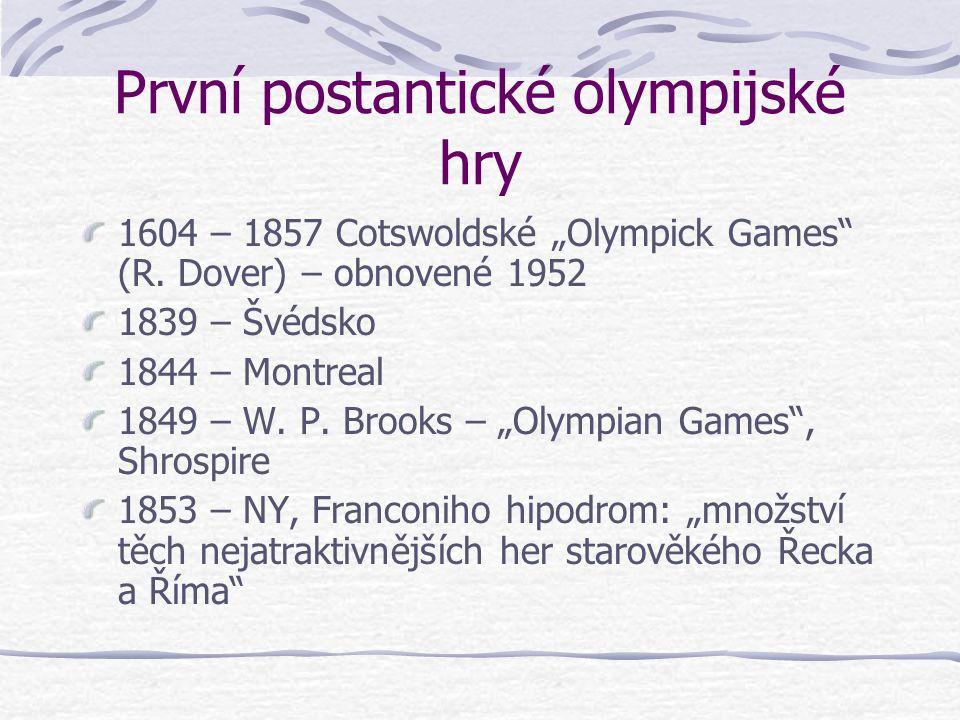"""První postantické olympijské hry 1604 – 1857 Cotswoldské """"Olympick Games (R."""