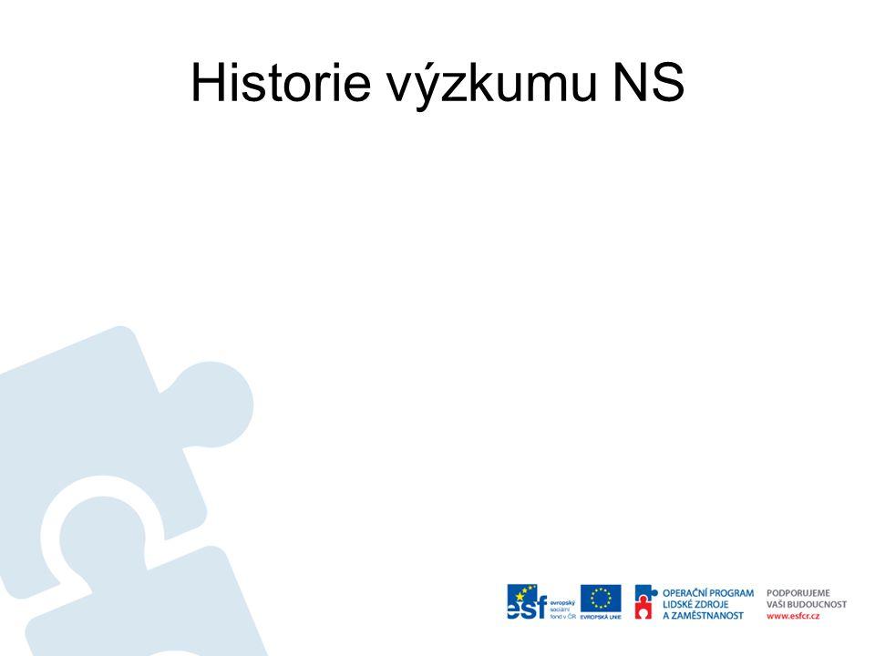 Historie výzkumu NS