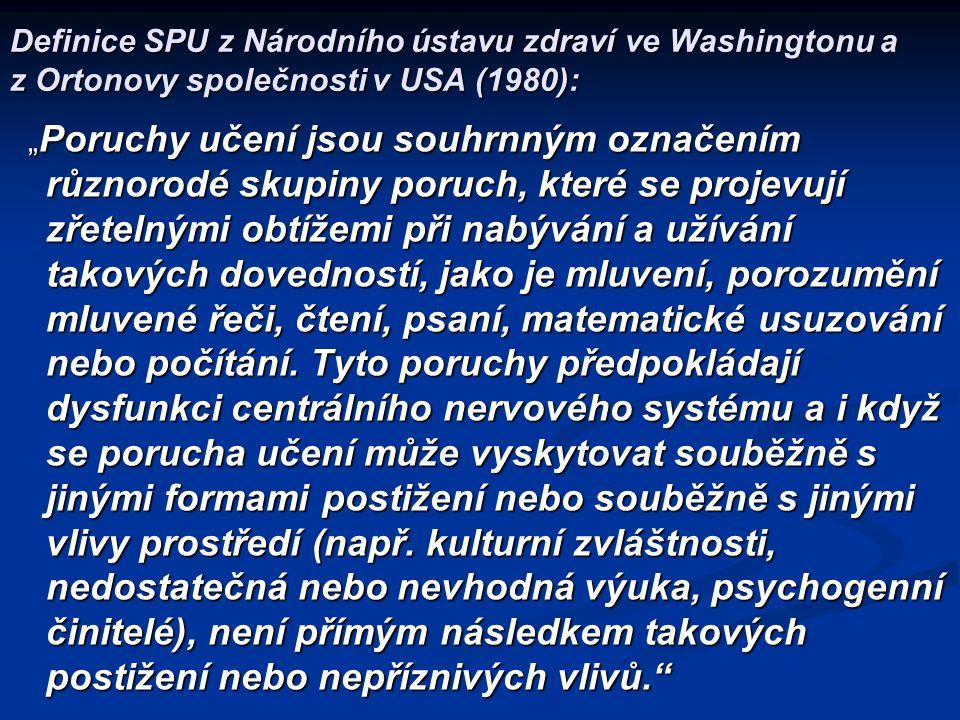  Z.Matějček – od 70. let 20. st. vydal řadu monografií a napsal spoustu odborných článků o SPU.