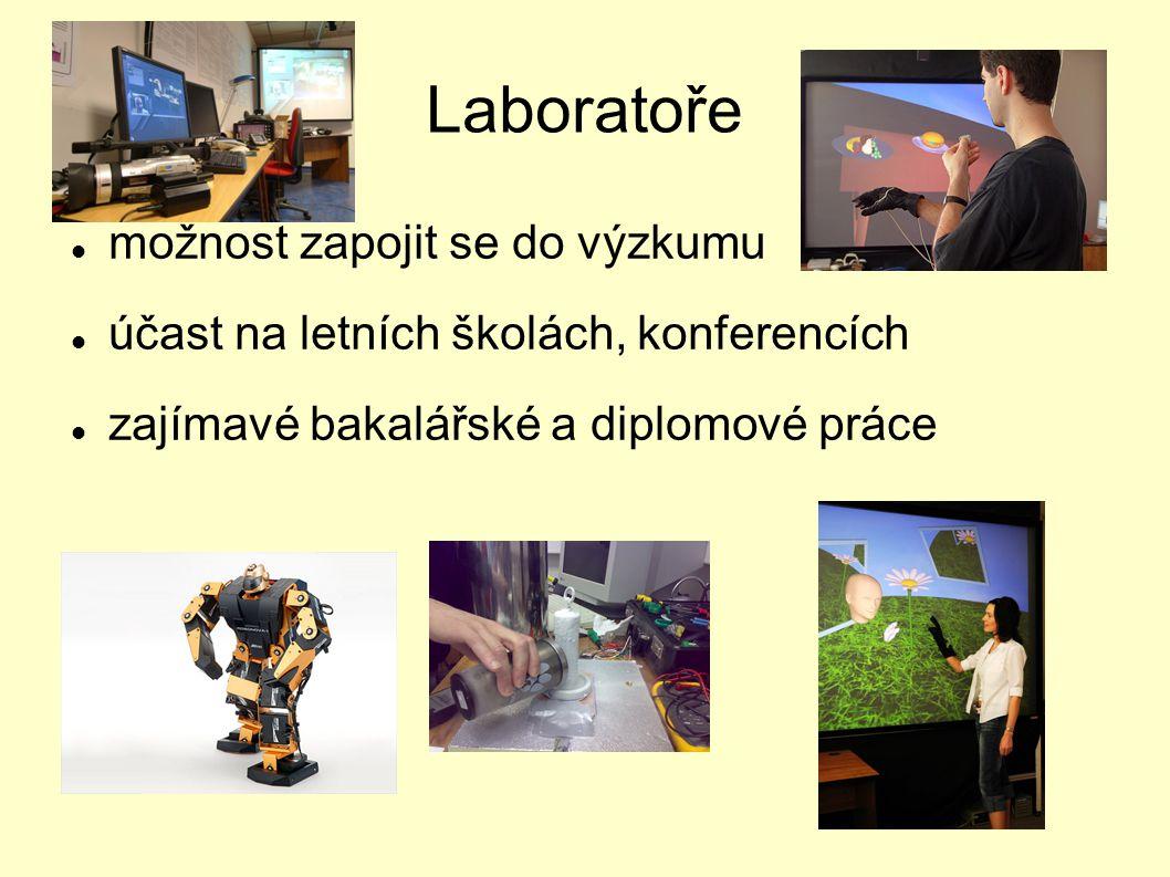 Laboratoře možnost zapojit se do výzkumu účast na letních školách, konferencích zajímavé bakalářské a diplomové práce