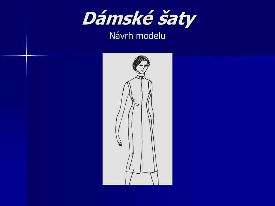 Dámské šaty Návrh modelu
