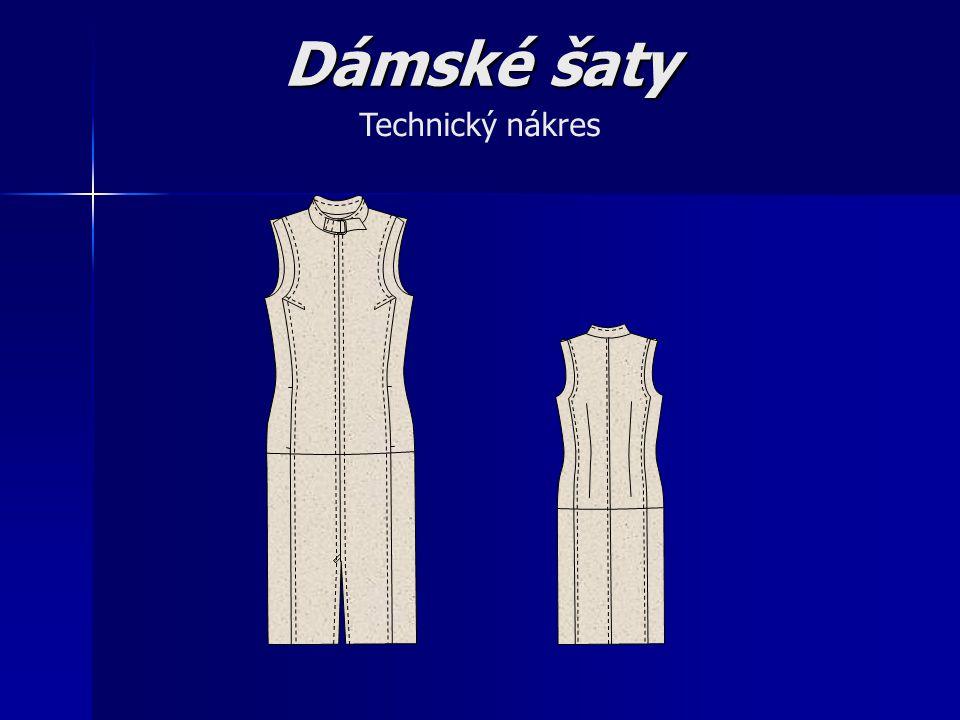 Dámské šaty Technický nákres