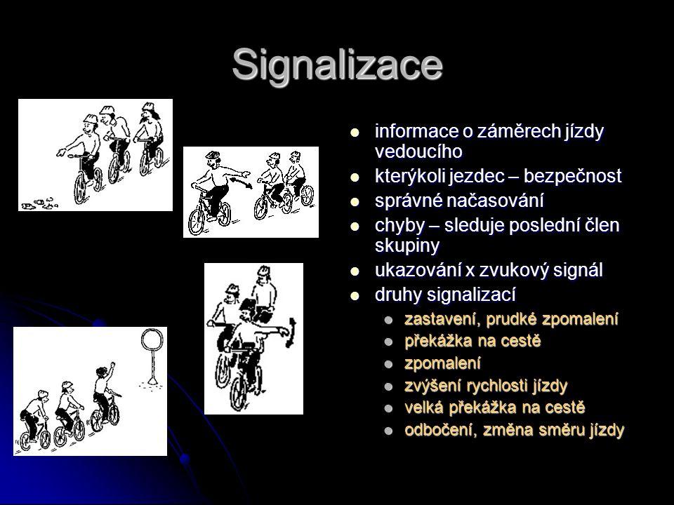 Signalizace informace o záměrech jízdy vedoucího informace o záměrech jízdy vedoucího kterýkoli jezdec – bezpečnost kterýkoli jezdec – bezpečnost sprá