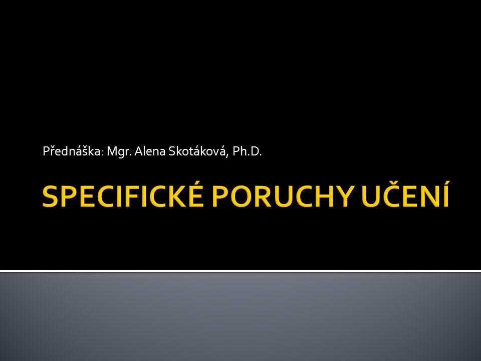 Přednáška: Mgr. Alena Skotáková, Ph.D.