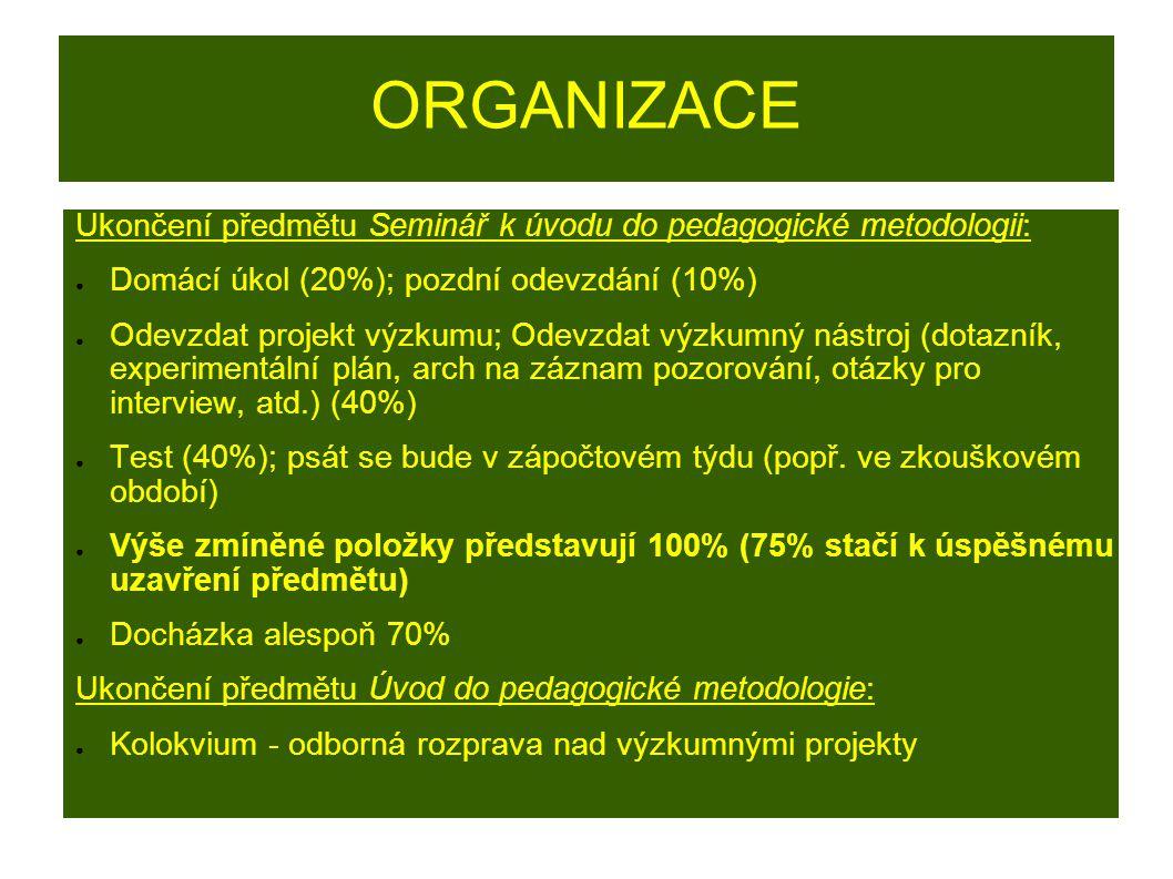 LITERATURA kvantitativní výzkum (postatné pro účely předmětu): ● GAVORA, P.