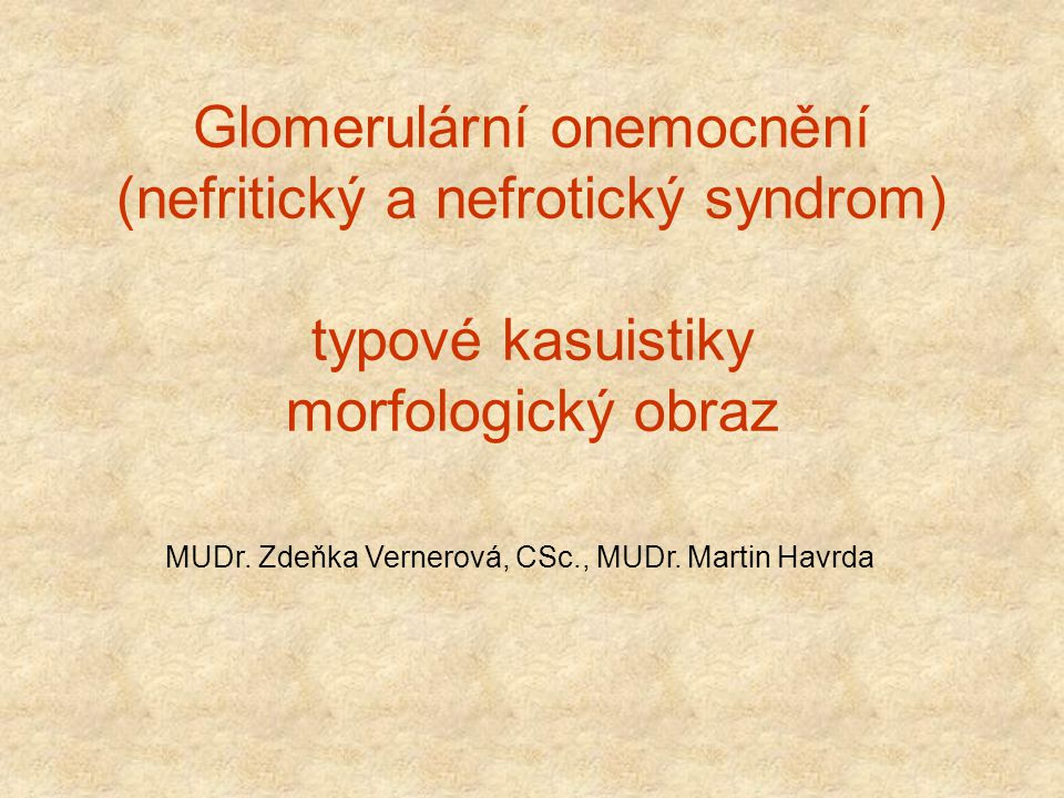 Glomerular disorders.