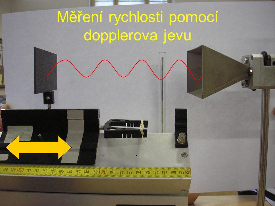 Měření rychlosti pomocí dopplerova jevu