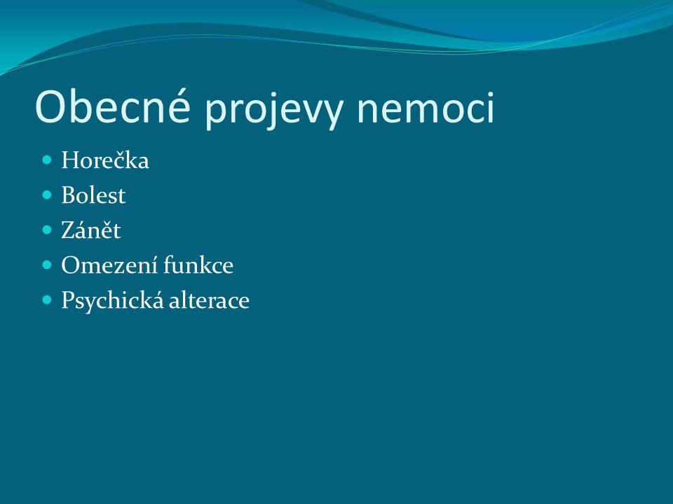 Horečka nad 38st typy-návratná, kontinuální,septická Pyrogeny : - endogenní - exogenní důsledek a účinek horečky úloha CNS,křeče