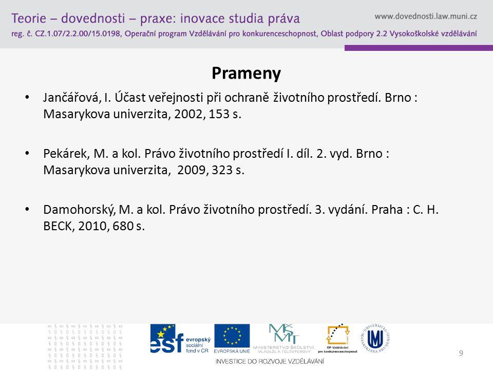 Prameny Jančářová, I.Účast veřejnosti při ochraně životního prostředí.
