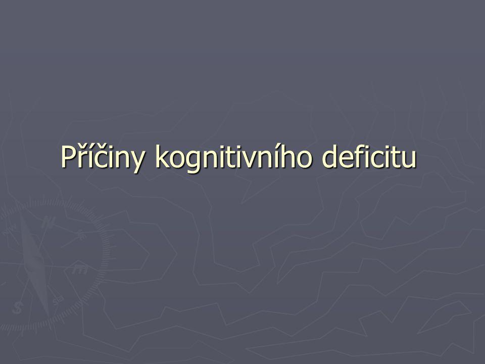 Příčiny kognitivního deficitu