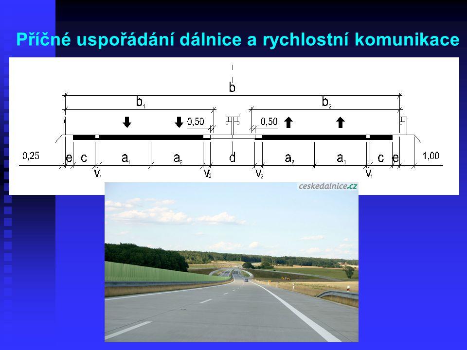 Příčné uspořádání dálnice a rychlostní komunikace