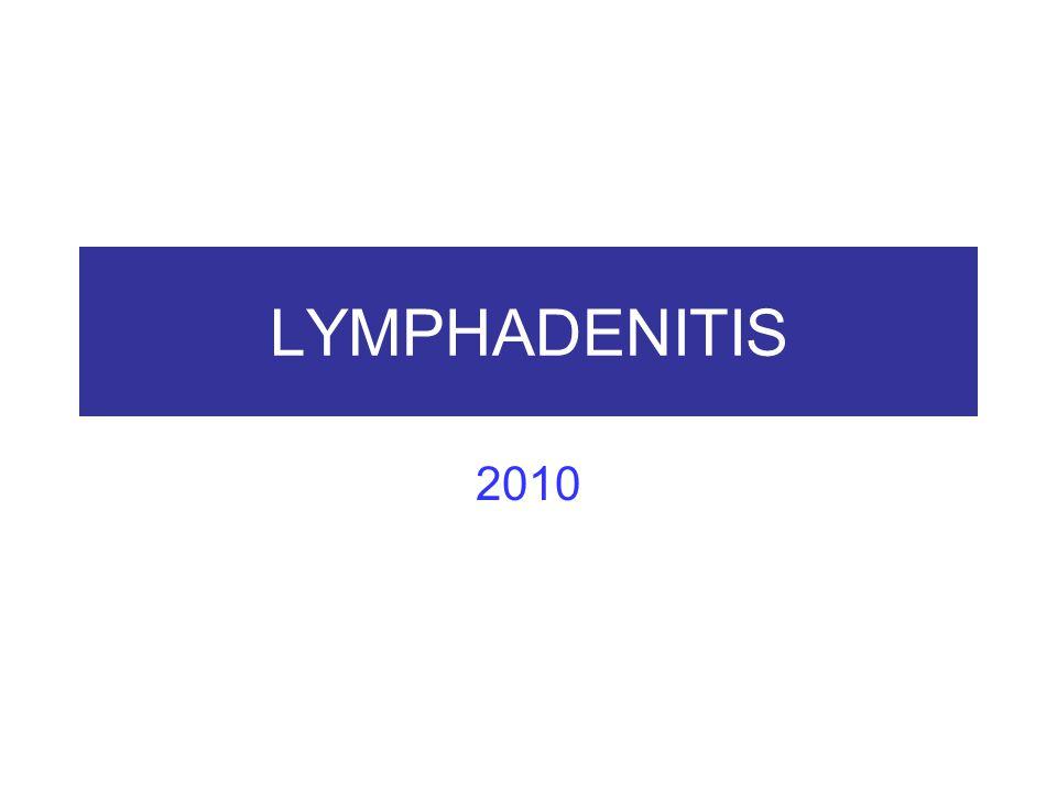 Lymfadenitidy Akutní nespecif lymfadenitis: zánět uzliny drenující ložisko infekčního zánětu: zduřelé, zarudlé, v sinech polynukleáry Chronická nesp l-ad: (a) reaktivní folikulární hyperplazie, mitozy, fagocytující hc, různá velikost foll (B reakce), (b) parakortikální hyperplasie (T reakce), ale folikly a jejich centra atrofické, (c) sinusová histiocytóza, reakce na produkty malig TU, virové lfad, inf mononukl, Granulomatosní, toxoplasmová lymfadenitis (Piringerová- Kuchinková) Granulomatozně purulentní (cat scratch dis.), Granulomat-nekrotisující, tularemie, pestis, anthrax, TBC Granulomatosní při sarkoidoze (bez kaseosních nekros)