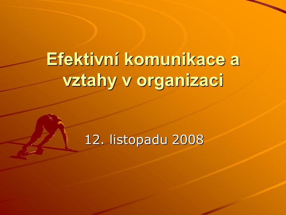 Efektivní komunikace a vztahy v organizaci 12. listopadu 2008