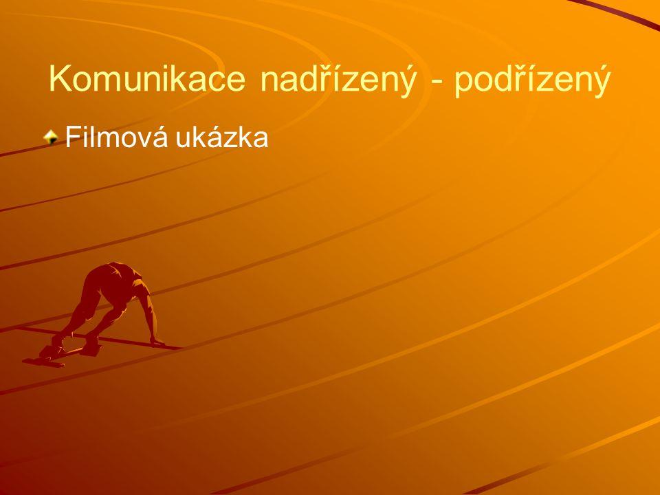 Komunikace nadřízený - podřízený Filmová ukázka