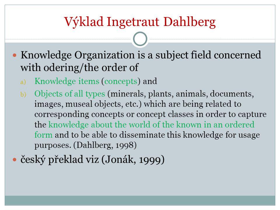 Povinná literatura Broughton, V., et.al. 2005. Knowledge Organization.