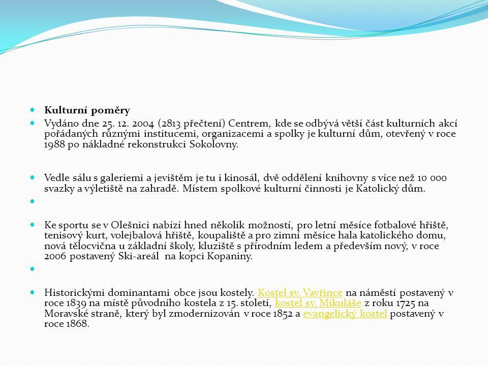 Kulturní poměry Vydáno dne 25. 12.