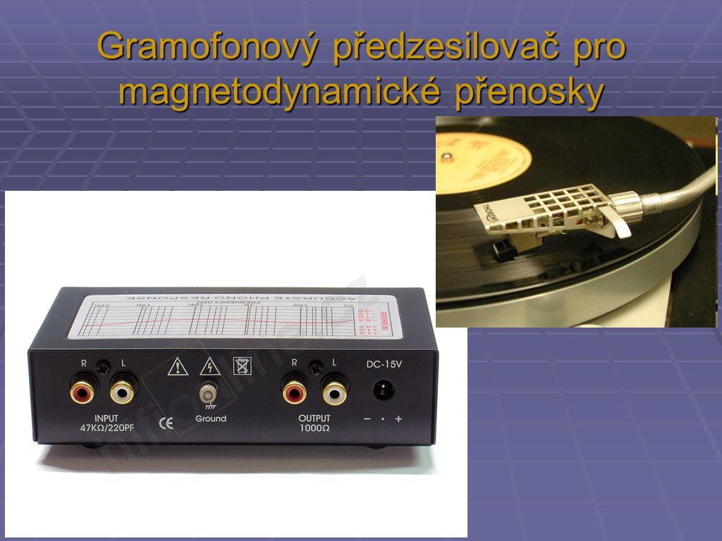 Gramofonový předzesilovač pro magnetodynamické přenosky