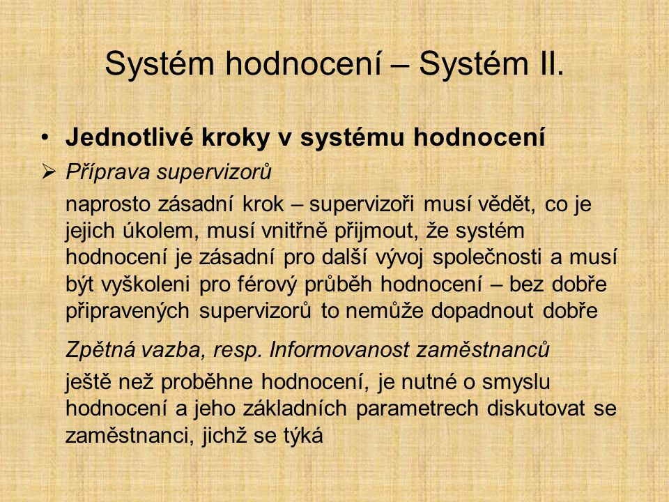 Metody hodnocení VI.Tzv.
